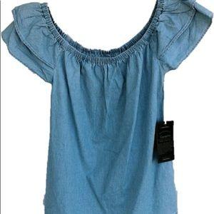 Denim collection Off the shoulder blouse